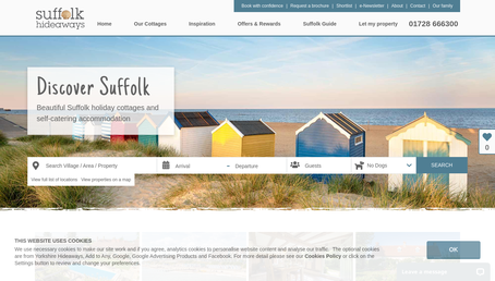 Suffolk Hideaways website