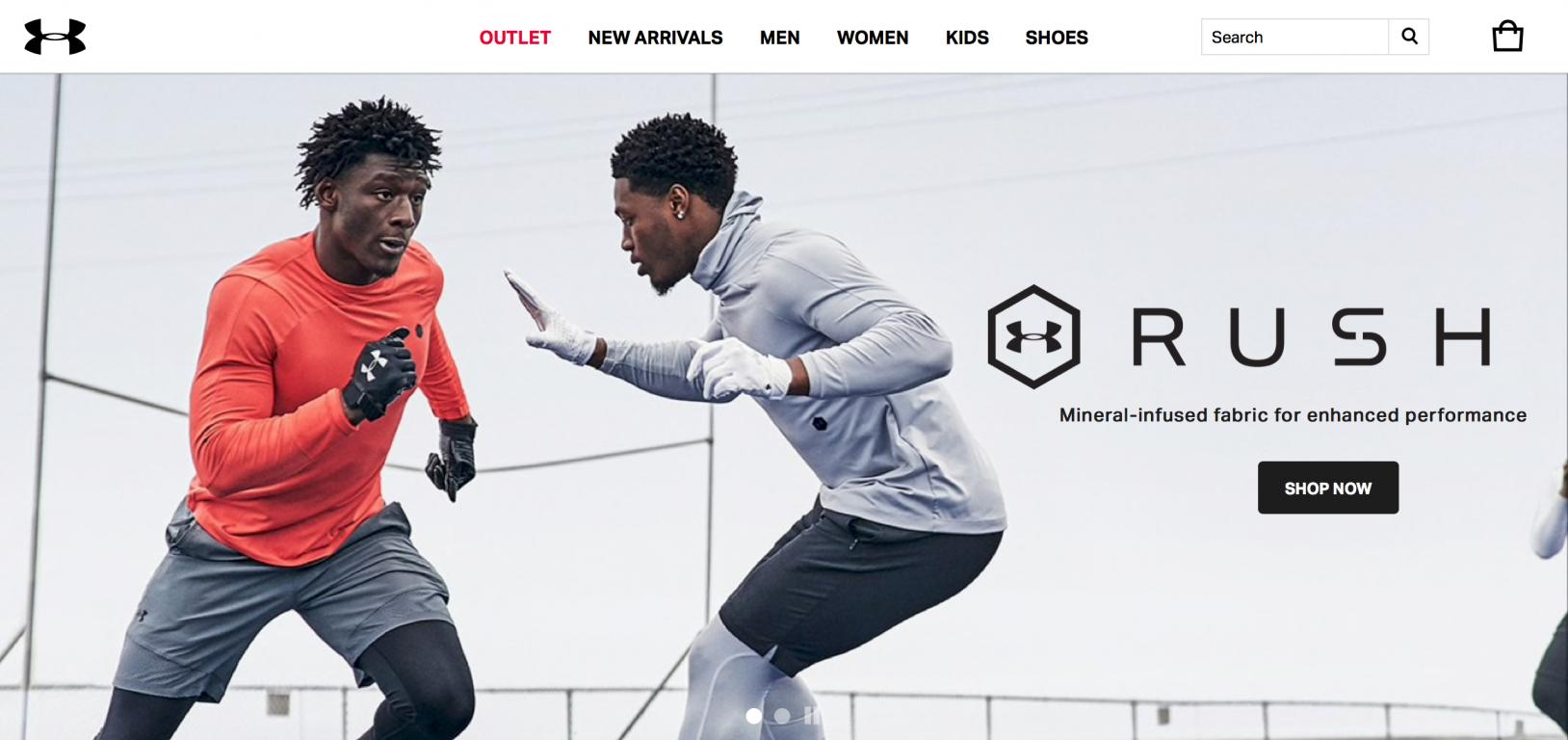 Under Armour UK website