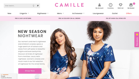 camille.co.uk website