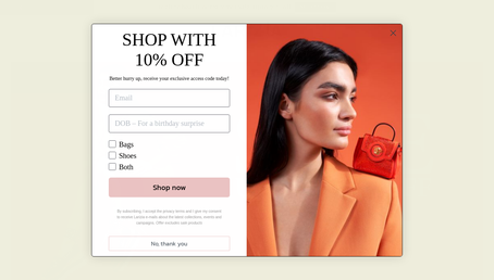 Www.larizia.com website