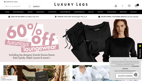 luxury-legs.com website