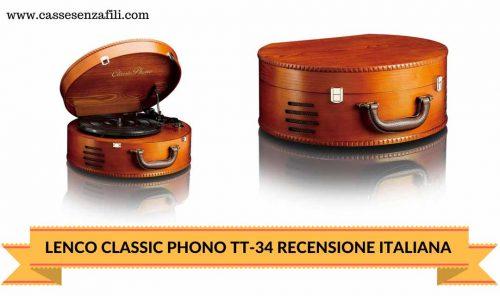 LENCO CLASSIC PHONO TT-34-RECENSIONE-ITALIANA