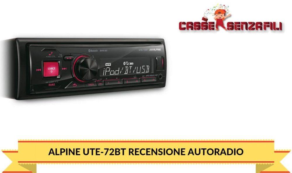 Alpine UTE-72BT Recensione Autoradio