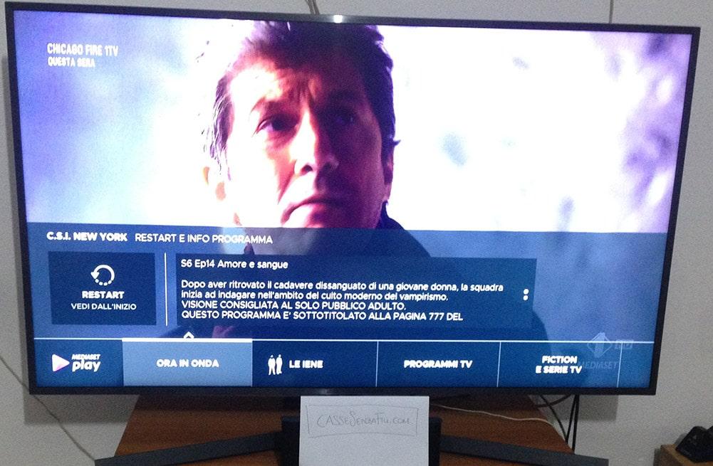 Smart Tv Samsung nuovo digitale funzione restar