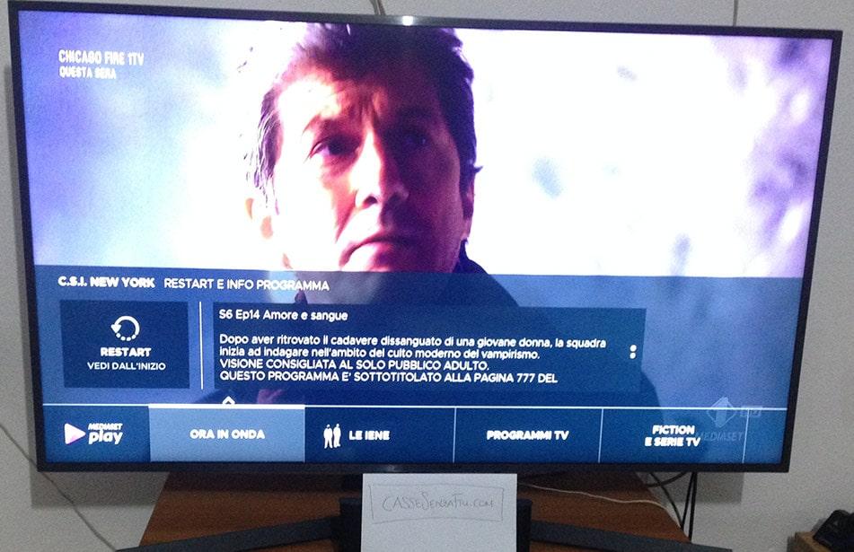 mediaset play su smart tv