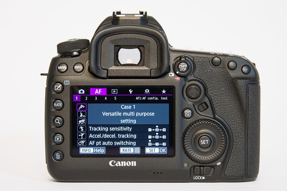 Menu con Configurazioni disponibili su una macchina fotografica reflex