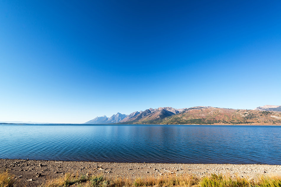 Jackson Lake scatto in grandangolo
