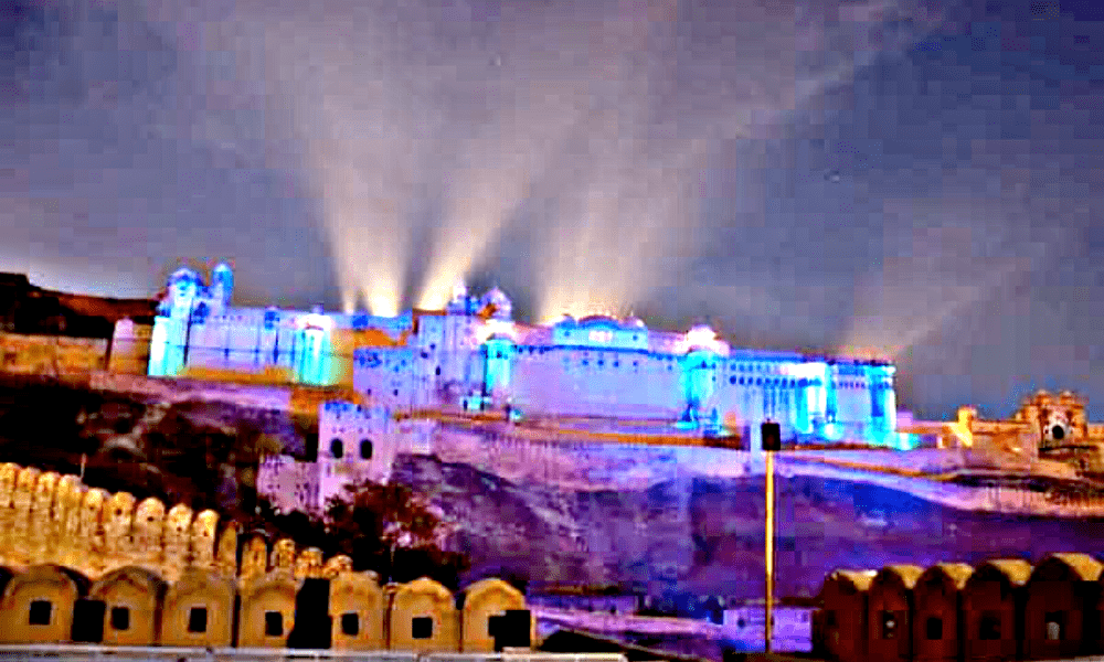 Sound and light Show at Amber Fort