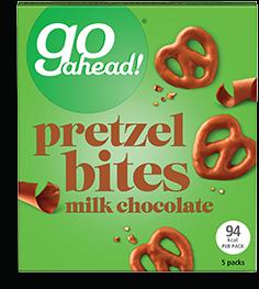 milk chocolate pretzel bites