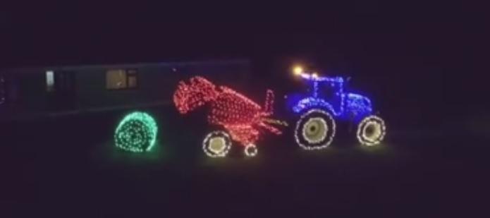 Video: A farming Christmas lights display like no other!