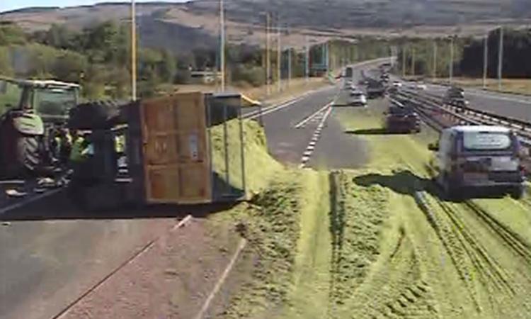 Silage spills across speedy Scottish motorway