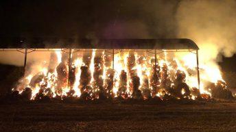 £20,000 of straw destroyed in Hertfordshire blaze