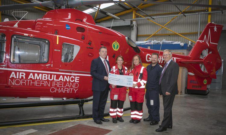 ABP raises £10,000 for union's air ambulance centenary charity appeal