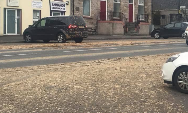 Overnight incident leaves town covered in 'slurry'