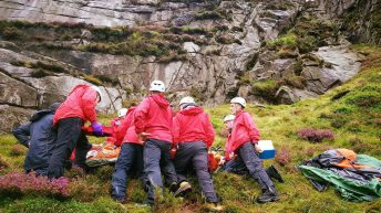 Youth injured by a falling sheep on Mourne Mountains