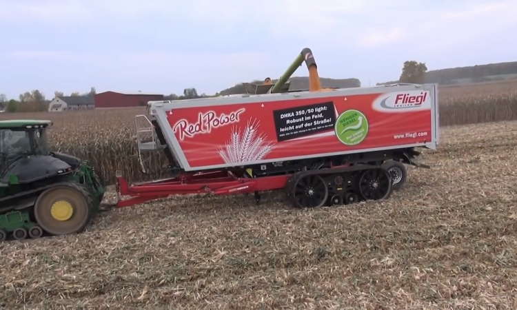 Who needs a chaser bin? Just 'carry' a truck trailer into the field