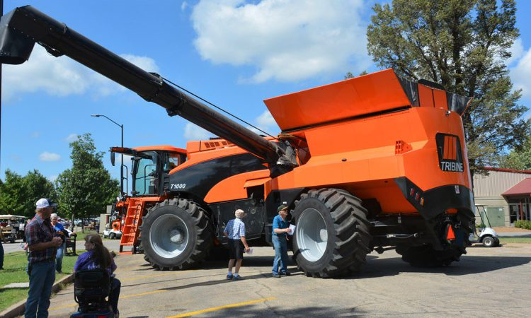 Tribine: A combine harvester story with a 'twist'