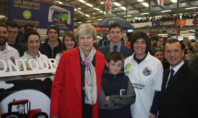 Theresa May sits down to talk about future of farming at Welsh Winter Fair