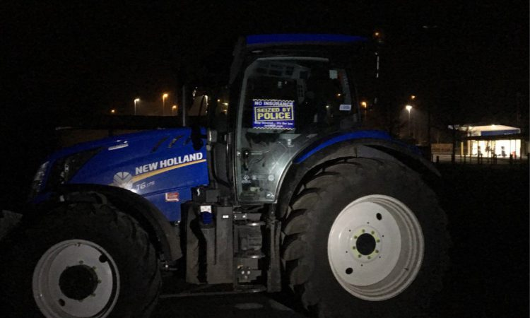 Police seize tractor…at drag race
