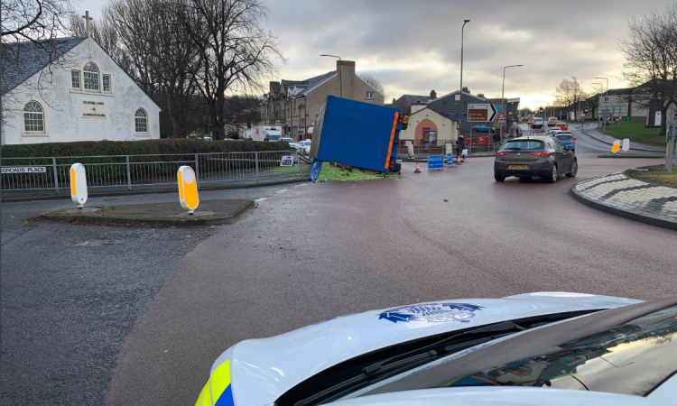 Overturned lorry load of Brussels sprouts causes road closure