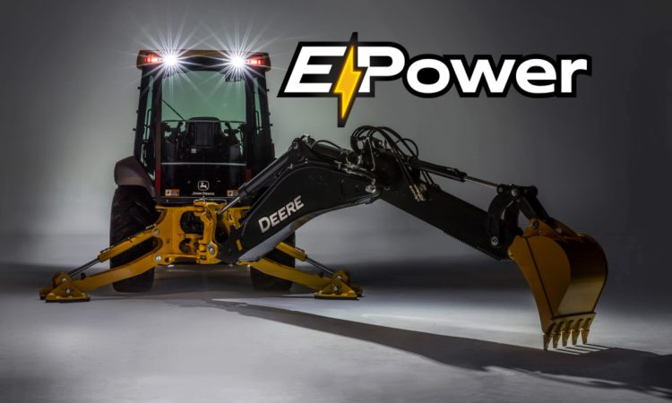 John Deere joint tests first electric backhoe concept
