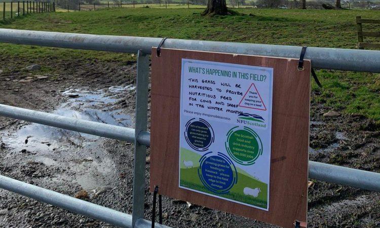 NFU Scotland creates posters to educate the public on responsible farmland access