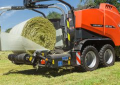 Kuhn round balers to test and weigh bales in the field