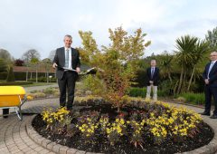 Poots marks NI100 with tree-planting event