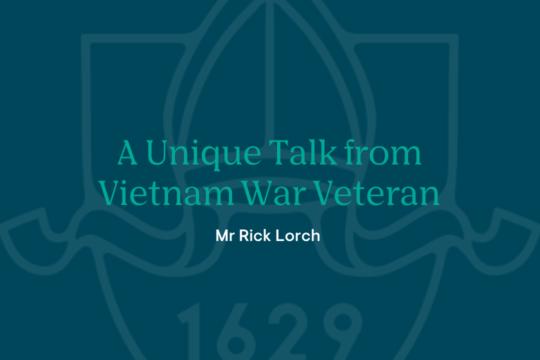 A Unique talk from Vietnam War Veteran
