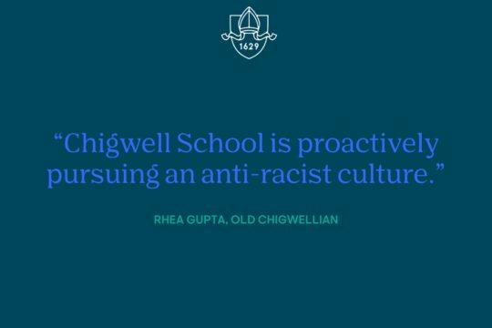 A Letter from Old Chigwellian, Rhea Gupta