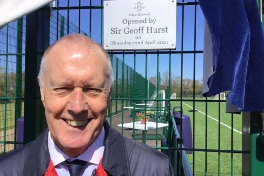3G Pitch Inaugurated by Sir Geoff Hurst, MBE
