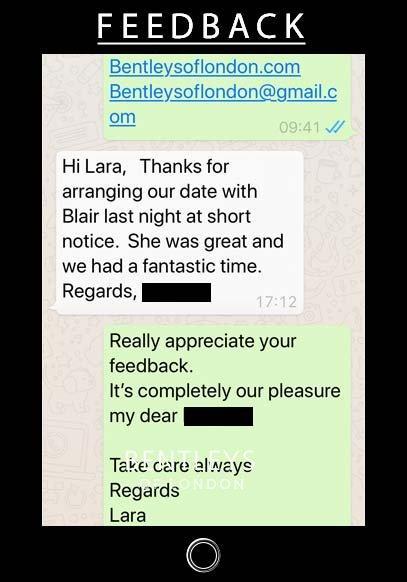 Blair from Bentleys Of London