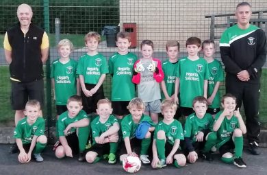 Blackstone U9 Football team sponsored by Hegarty Solicitors