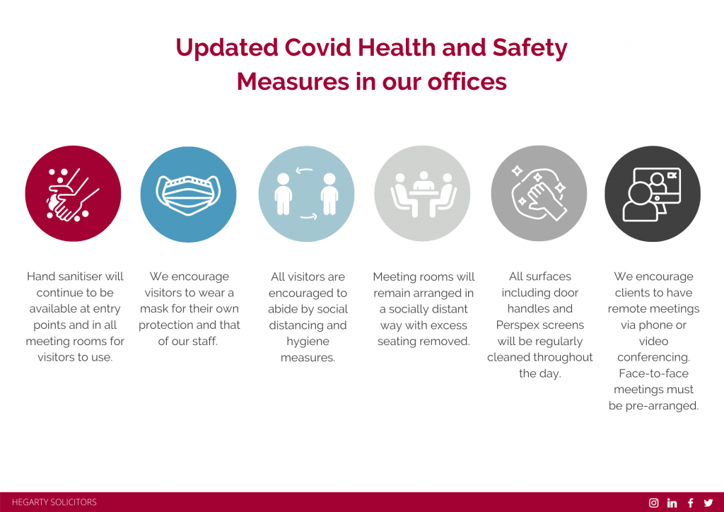 Hegarty Solicitors Covid Health and Safety Measures