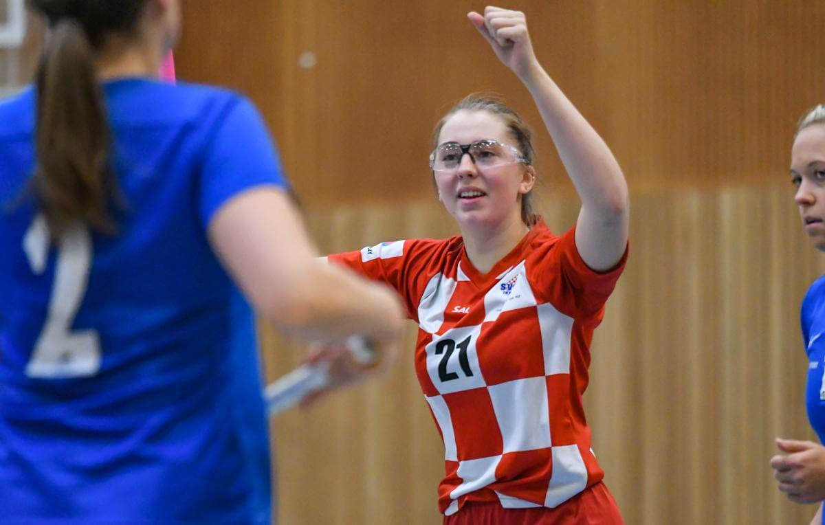 Rebecka Härnlund scoret to ganger for Sveiva, men det var ikke nok dagens lokaloppgjør. Foto: Andreas Kristoffer Berge / Kvinneidrett.no