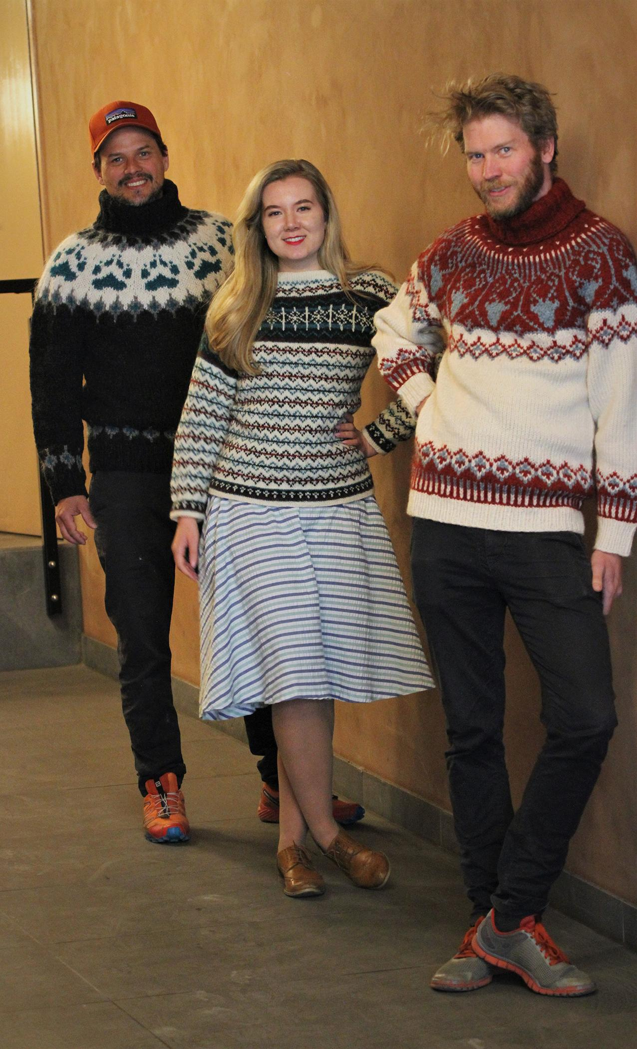 VILLMARKSGENSER: Norsk strikk er populært i utlandet. Woolit har sendt villmarksgensere helt til Beijing. Foto: Woolit
