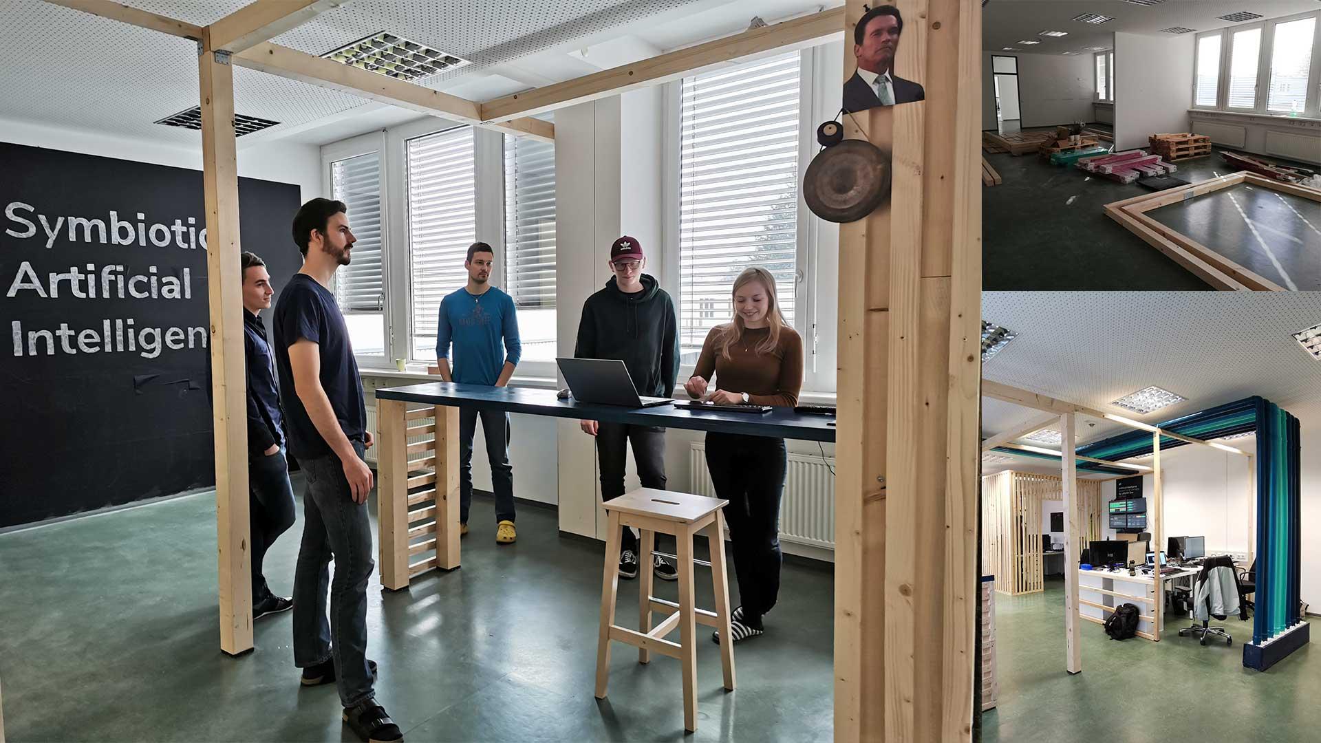 Entwicklerbüro mit integrierter Meeting Area