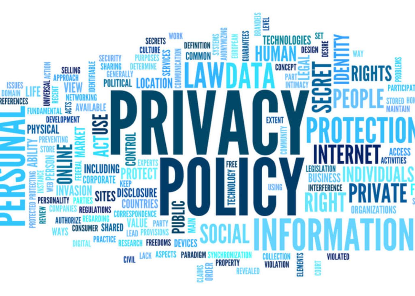 privacy policy design