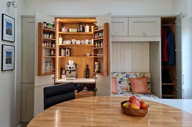 kitchen with pantry and bench seat