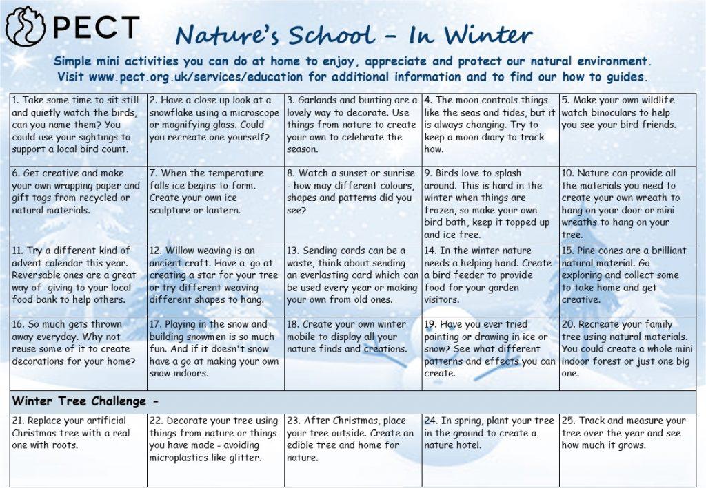 Natures in school winter