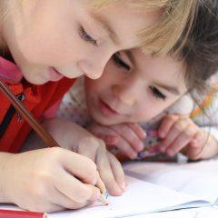Kids working on Eco Charter