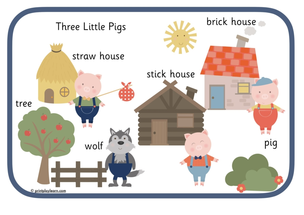 three little pig word mat