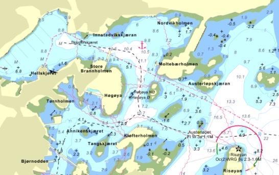 Kartet illustrerer hvor den nye sjøledningen skal gå. Foto: Karttegning Saga fisk AS