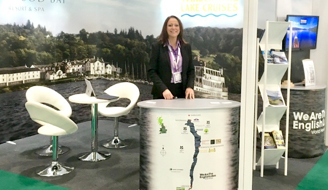 Jen Cormack on a previous World Travel Market stand