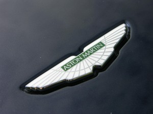 Aston Martin logo on car that used our car valuation service