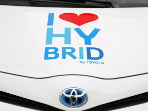 Close up of Toyota hybrid you can upgrade to after selling your car