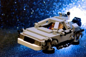 Back to the Future DeLorean made from Lego