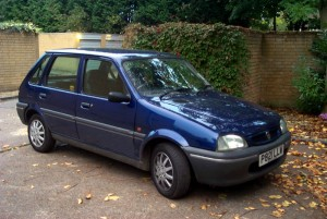 Dark blue Rover Metro