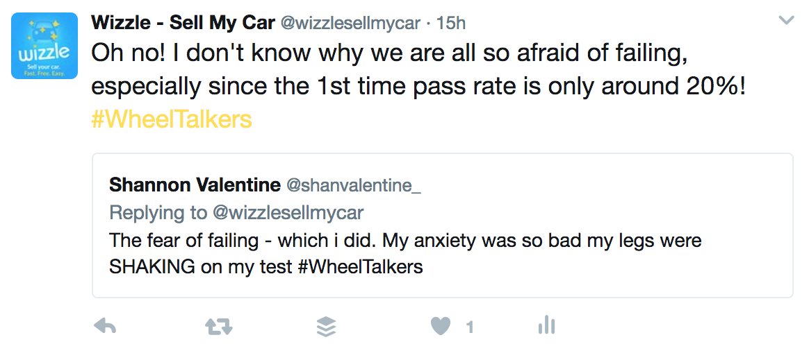 Tweet about fear of failure
