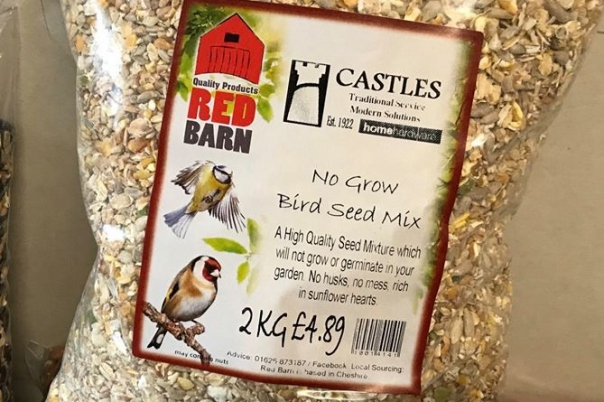 "Attract more birds into your garden with ""Red Barn"" Products at Castles Home Hardware"